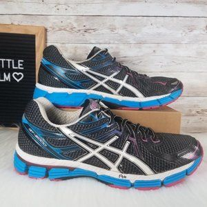 Asics GT 2000 Womens 11 Running Shoe Black Blue
